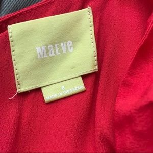 Anthropologie Dresses - Maeve   Tisana Crocheted Strap Red Dress Size 8